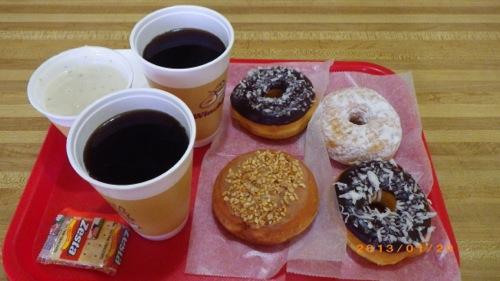 サイパン格安旅行の旅 ウィンチェルズ 2ドーナツ&コーヒー