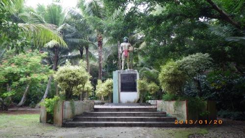 サイパン格安旅行の旅 2日目 マニャガハ島 銅像