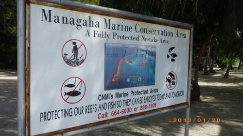 サイパン格安旅行の旅 2日目 マニャガハ島 禁止事項