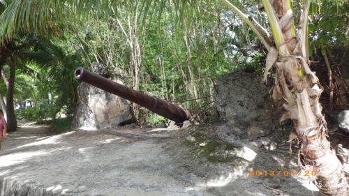 サイパン格安旅行の旅 2日目 マニャガハ島 砲台