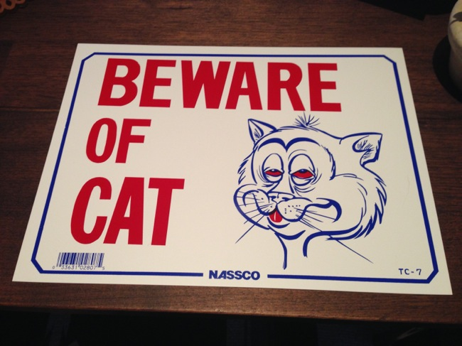 アメリカンな猫の看板を購入