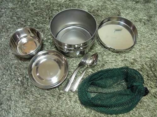 キャンプ用品 ステンレス食器セット