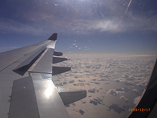 スリランカ航空機内からの景色