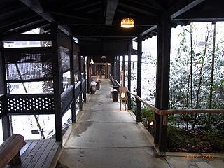 雪月花温泉への道