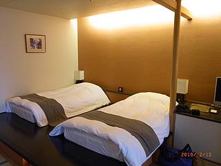 雪月花部屋ベッド